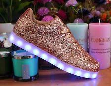 ladies light up shoes fashion glitter led trainers ladies mens usb light up party