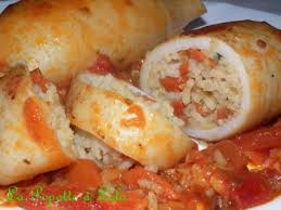 cuisiner des encornets encornets farcis au riz et aux légumes la popotte