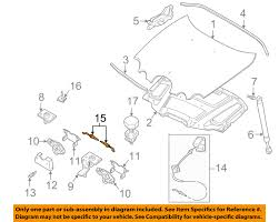 jaguar oem 00 08 s type hood latch lock release cable xr81957