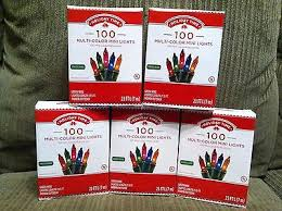 100 count mini lights lot of 5 boxes holiday time 100 count multi color mini light set