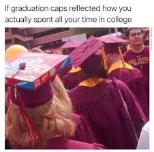 Meme Caps - if graduation caps reflected how you actually spent all your time in