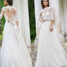 plus size lace wedding dress with sleeves pluslook eu collection