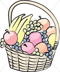 basket of fruit basket of fruit church food clipart