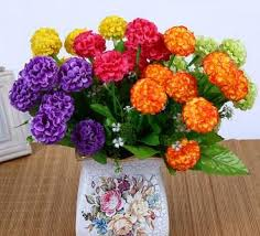 home decoration materials artificial flower high grade garden home decoration materials 6
