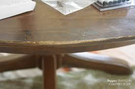 How To Remove Stains From Wood Table How To Refinish A Table Without Sanding Or Stripping