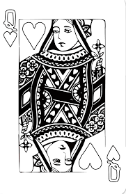 king deck cards coloring pages coloring