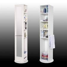 Meuble De Rangement Salle Bain Armoire 1 Miroir Gap Colonne Pivotante De Salle De Bain L 30 Cm Blanc Achat