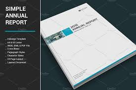 ind annual report template simple annual report brochure templates creative market
