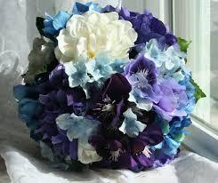 Hydrangea Bouquet Set With Matching Gardenia Boutonniere
