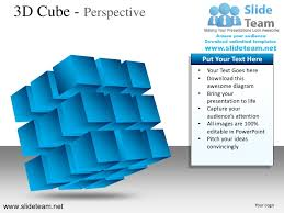 3d cube perspective powerpoint ppt slides