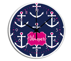 personalized picture clocks custom anchor personalized decorative kitchen wall clock bedroom