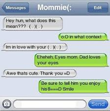 Memes For Iphone Texts - hey hun what does this mean text messages mom message mom and