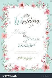 Wedding Invitation Greeting Cards Flower Wedding Invitation Card Save Date Stock Vector 261255005