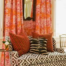 Pink And Orange Curtains Pink And Orange Toile Curtains Design Ideas