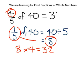 Multiplying Fractions By Whole Numbers Worksheets Finding Fractions Of Whole Numbers Youtube