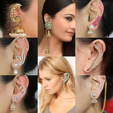 ear cuffs india eye popping indian ear cuffs for trendy trends4us