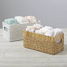 Basket Changing Table Wicker Small Changing Table Basket Crate And Barrel