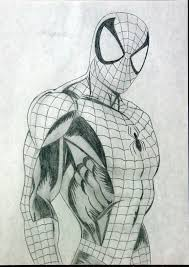 pencil drawings spiderman draw spider man fine art