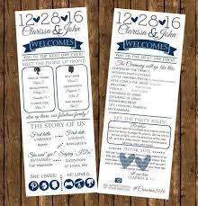 Winter Wedding Programs Infographic Ideas Infographic Wedding Program Best Free