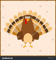 thanksgiving day turkey flat style no stock vector 741545746