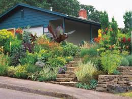 Sloped Front Yard Landscaping Ideas - sloped front yard colors minor miracles jewel box mosaic