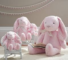 stuffed bunnies for easter pink bunny plush collection pottery barn kids
