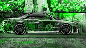 nissan skyline 2014 custom nissan skyline gtr r34 jdm crystal graffiti car 2014 el tony
