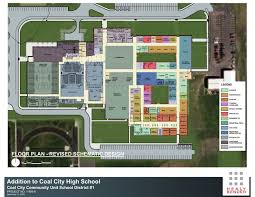 Floor Plans For Businesses Coal City High Addition