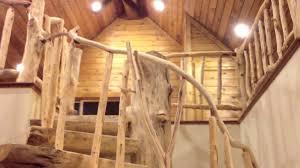 custom log spiral staircase youtube