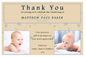 thank you card religious thank you baptism cards baptism thank