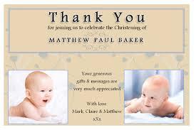 thank you card religious thank you baptism cards religious thank