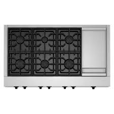 Jenn Air 4 Burner Gas Cooktop Kitchenaid 48 In Gas Cooktop In Stainless Steel With Griddle And