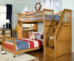 Loft Bed With Computer Desk 24 Designs Of Bunk Beds With Steps Kids Love These