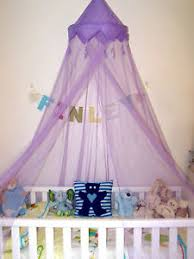 Cot Bed Canopy Purple Crown Tassle Single Cot Bed Mosquito Net Princess Prince