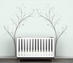 White Tree Wall Decal For Nursery by Modern Kids Wall Decor Triangle Wall Sticker Home Decor Ba Nursery