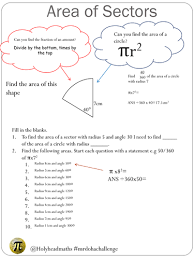 Area Of Sector Worksheet Area And Perimeter Of Sectors Worksheet By Holyheadschool