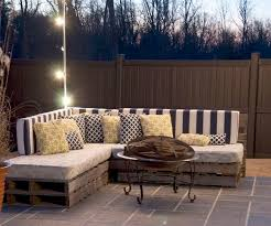 whats more creative than patio furniture made out of pallets