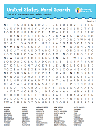 printable word search word search printable find all 50 states learning resources blog