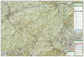 Topographical Map Of Tennessee by Great Smoky Mountains National Park National Geographic Trails