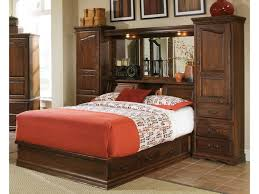 Bookcase Bed Queen Furniture Traditions Master Piece Queen Pier Bed Group Mueller