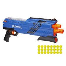 nerf car shooter nerf rival atlas xvi 1200 blaster blue nerf rival
