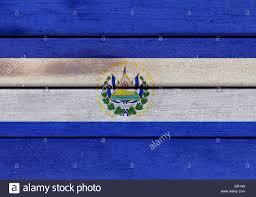 Flag El Salvador Illustration Of Republic Of El Salvador Flag Over A Wooden