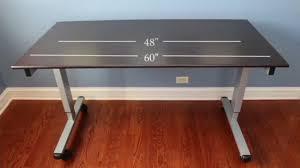 luxor crank stand up desk webstaurantstore tv video