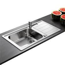 meuble de cuisine avec evier inox évier inox lisse de marque apell 1 grand bac 1 égouttoir évier