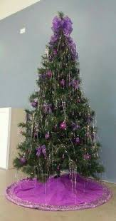 purple feather christmas tree for the housewife in me