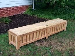 exterior storage bench plans simple outdoor storage bench plans