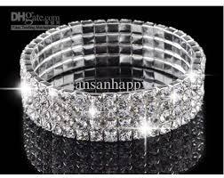 rhinestone bangles bracelet images 2018 new 4row crystal rhinestone wedding party stretch bangle jpg