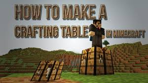 Minecraft Crafting Table Guide How To Make A Crafting Table In Minecraft Crafting Recipe Youtube