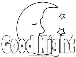 good night coloring pages u2013 color pages coloring pages kids