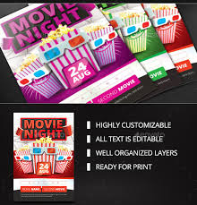 movie night flyer template 25 free jpg psd format download